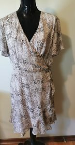 All In Favor Snake Print Wrap Dress Size XL